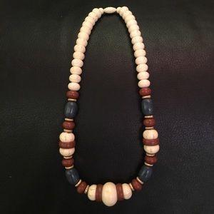 Boho faux Ivory necklace
